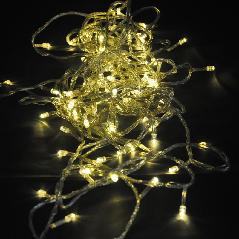 10M 110V 8-Mode 100-LED String Lights Decorative Lamps for Christmas/ Wedding/ Party/ Garden (Warm White Light)