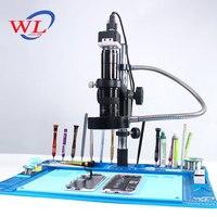 WL высокая температура термостойкие тепловые пушки алюминиевый сплав Pad Ремонт Техническое обслуживание микроскоп платформа Pad BGA паяльная