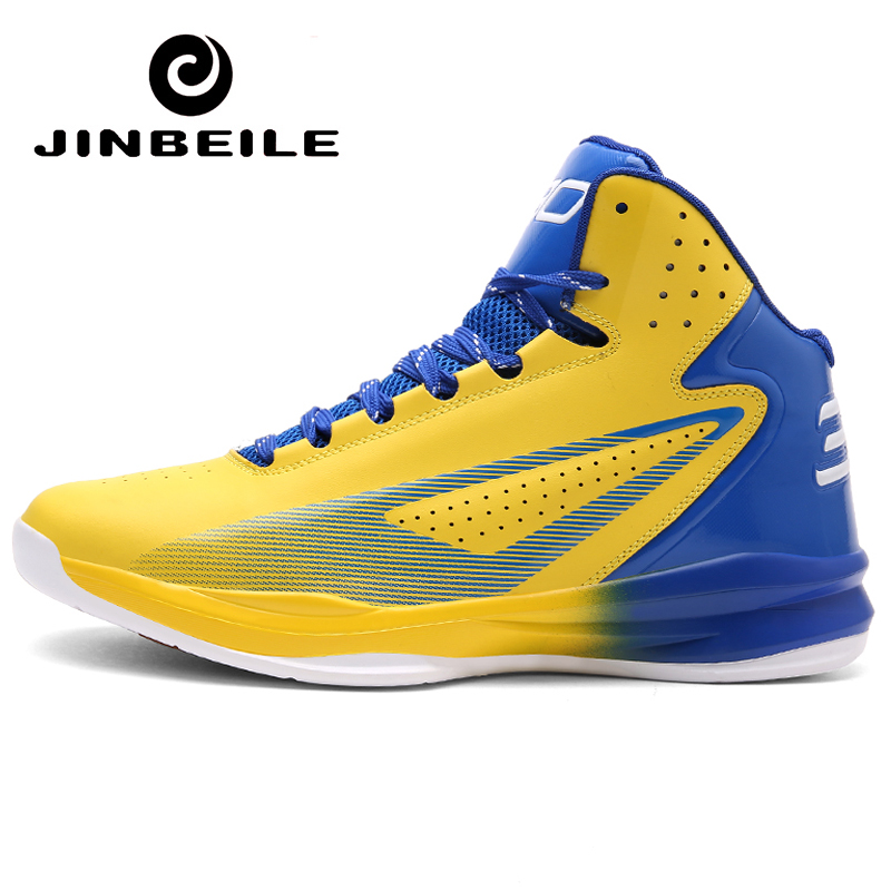 Outdoor Waterproof Basketball Shoes For Men James Sneakers Men HigH Top Lace-up Basket Homme Curry Sport Shoes Plus Size 36-45 under armour men curry 5 basketball shoes stephen curry sport basketball sneakers male training unique socks design sport shoes