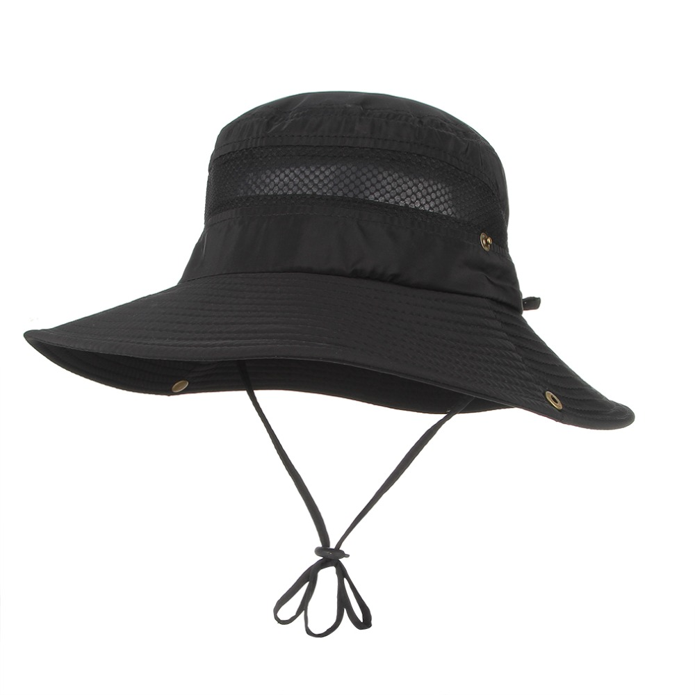 306301c527495 Fashion Summer Bucket Hats For Men Mesh Patchwork Breathable Boonie Hats  Military Camping Outdoor Hiking Sun Caps