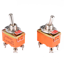 цена на 2PCS Mini Toggle Switch AC 250V 15A Amps On/Off 2 Positions DPST 4 Screw Electric Terminals Toggle Switches