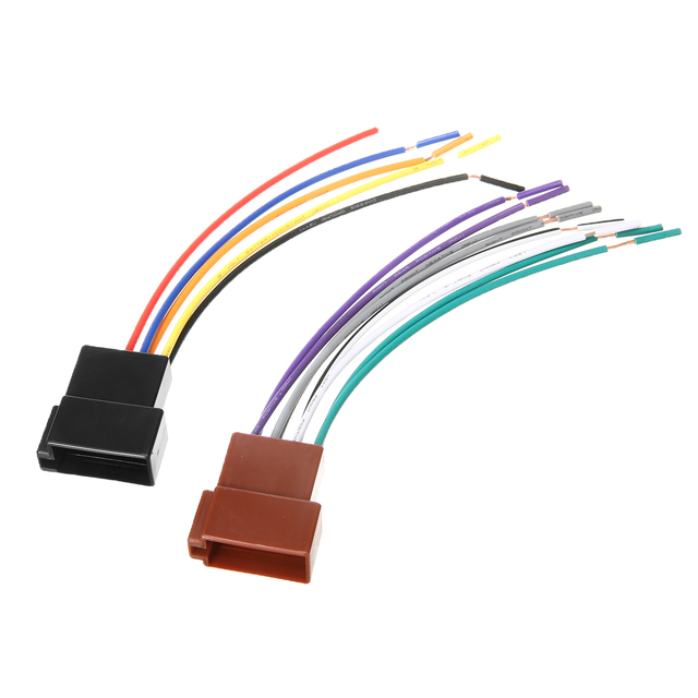 1 Pair Universal Car Stereo Female Socket Radio ISO Wire Harness Adapter Connector Car Electronics Accessories High Quality