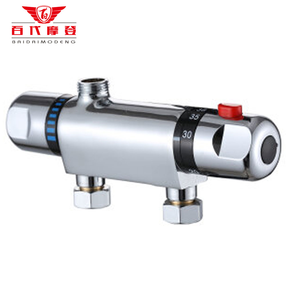 BaiDaiMoDeng mélangeur de douche en laiton poli avec la Valve de mélange d'eau solaire pour douche thermostatique