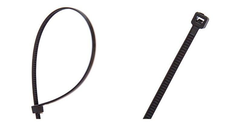 100 teile/paket Selbsthemmend Nylon kabel draht Zubehör Weiß Schwarz ...