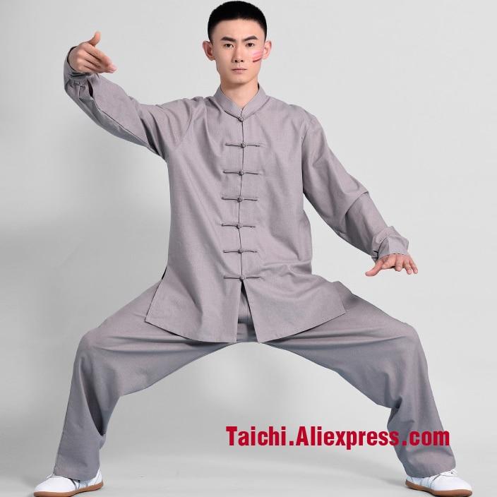 Handmade Linen And Cotten Tai Chi Uniform Wushu, Kung Fu,martial Art Suit,many Colors handmade linen tai chi uniform wushu kung fu martial art suit a set tai chi veil and uniform can be custom made
