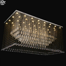 Large modern crystal hanging wire crystal engineering quality custom crystal lamp Europe Ceiling Lights Rmy-0225