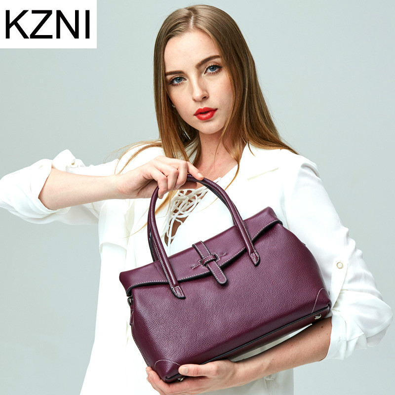 KZNI genuine leather bags for women luxury handbags women bags designer crossbody bags for women bolsas femininas L121702