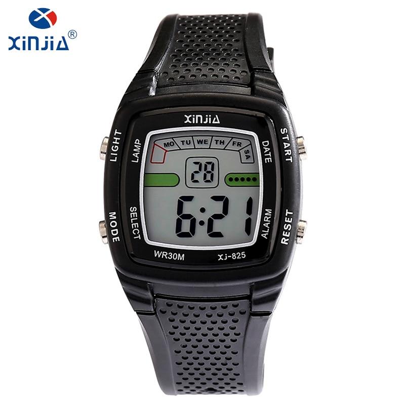 0d92799162 Relojes electrónicos informales para hombre de lujo de marca superior de  marca XINJIA reloj LED de resina nuevo a la moda 30 m a prueba de agua  reloj para ...