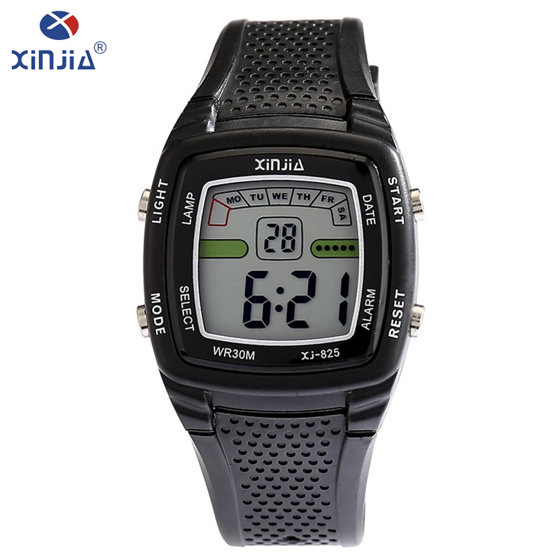 XINJIA Top brand luxury men's casual electronic watches resin new fashion LED watch 30m waterproof young students watch XJ-825 все цены