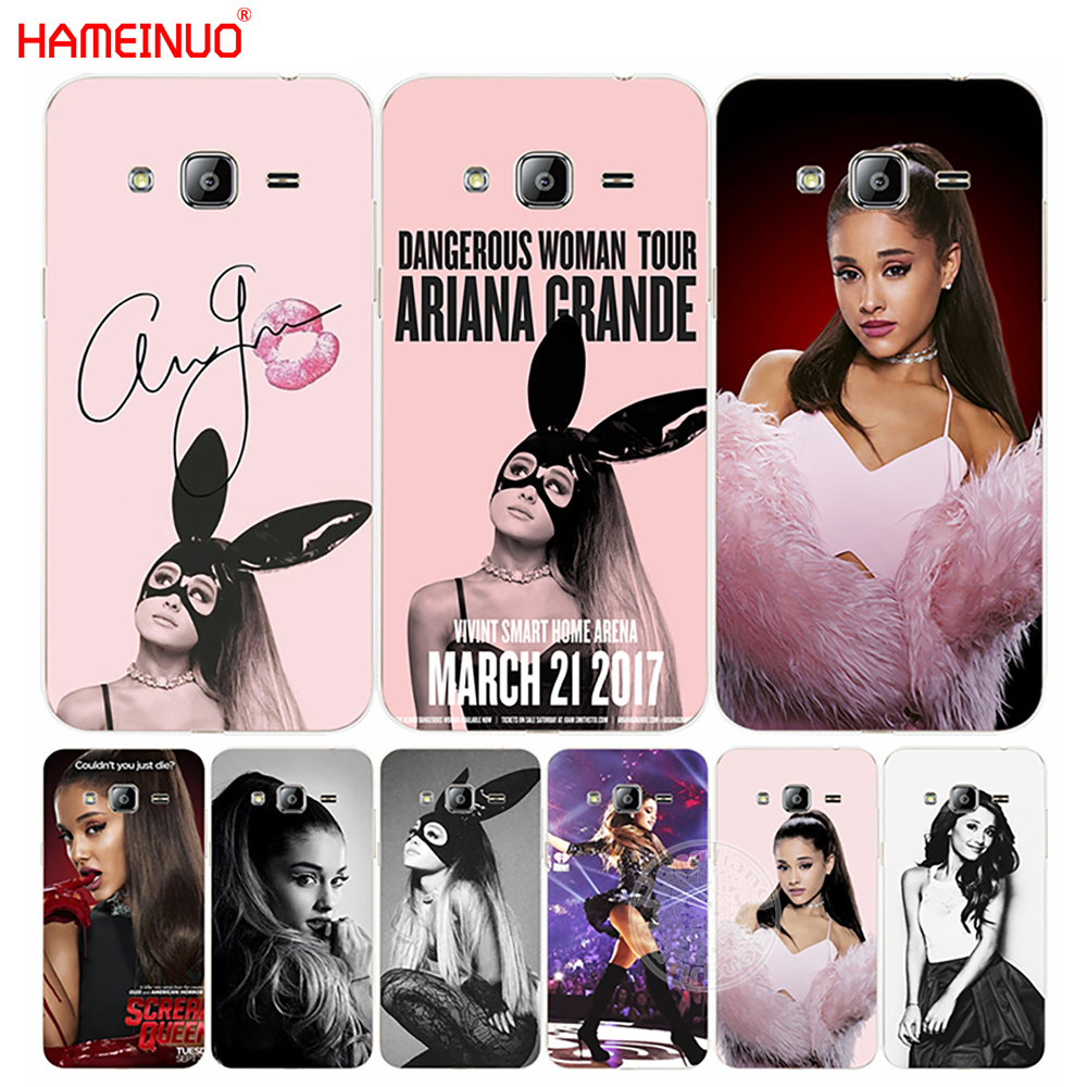 HAMEINUO Ag Ariana Grande Cat cover phone case for Samsung Galaxy J1 J2 J3 J5 J7 MINI ACE 2016 2015 prime ...