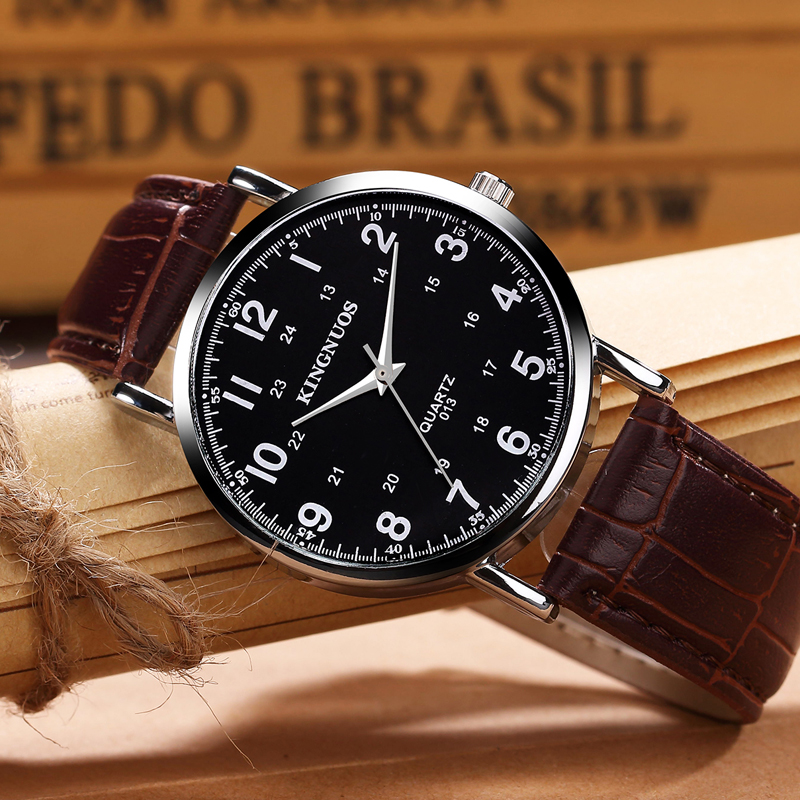 Relogio Masculino 2020 Fashion Mens Watches Top Brand Luxury Leather Business Quartz-Watch Men Colck Wristwatch Erkek Kol Saati