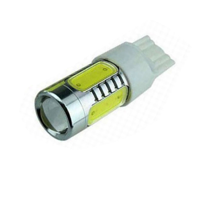 1pcs 7.5W T20 WY21W LED Turn Signal Light white 5 COB Chip with Lens 7440 Car LED Light Reverse Lights