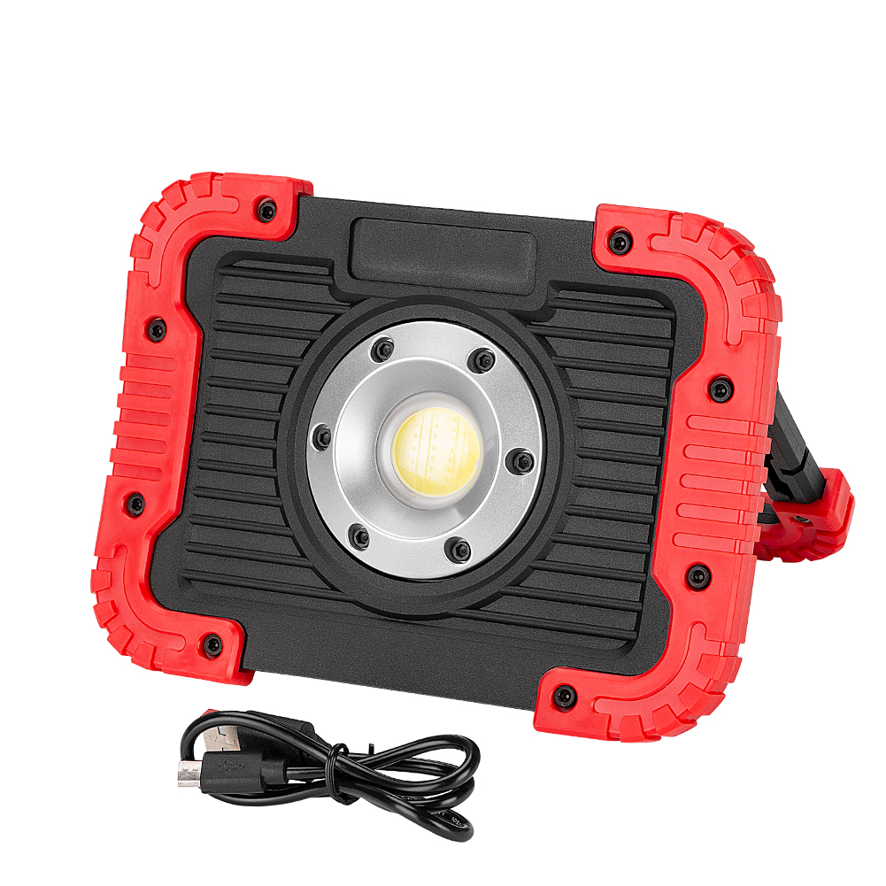 COB LED Portable Lantern Work Light Floodlight Camping Spotlight Searchlight Built-in Rechargeable Li-Batteries with USB Cable 20000 lumen handheld spotlight portable usb built in rechargeable led searchlight lantern flashlight waterproof spot lamp