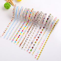 2Pcs Japanese Cute Colorful Washi Tape Decorative Adhesive Tape Diy Scrapbooking School Office Supply