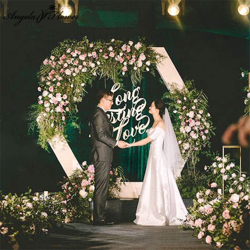 Variety styles customize wedding arch backdrop decor artificial flower wall road lead ball decor flower bouquet