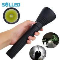 SOLLED 8000LM XHP70 Infinitely Dimming Waterproof Diving Flashlight 6000K 6500K Flashlight