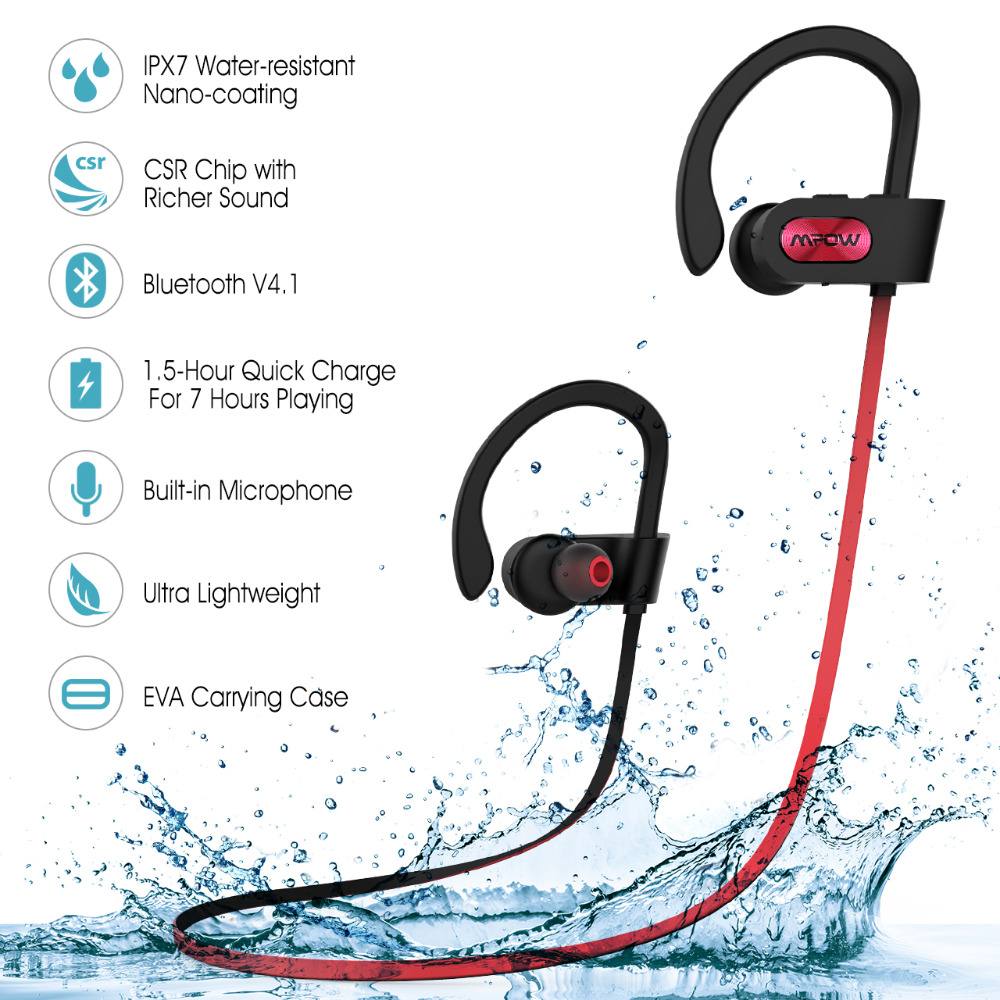 6c4020295f2 Pls contact us before you leave Neutral or Negative feedback About New Mpow  IPX7 waterproof Bluetooth Headphones noise canceling wireless ...