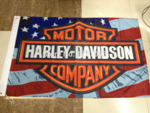 shipping 3ft x 5ft Hanging Flag Polyester American Motorcycle Flag Banner Outdoor Indoor 150x90cm Big Flag for Celebration