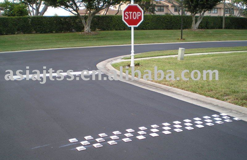 Plastic White Road Markers In Road Stud From Security