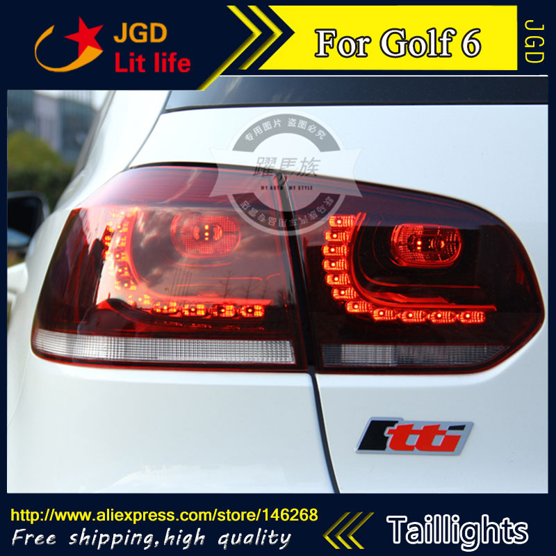 Car Styling tail lights for VW Golf 6 LED Tail Lamp rear trunk lamp cover drl+signal+brake+reverse car rear trunk security shield cargo cover for volkswagen vw tiguan 2016 2017 2018 high qualit black beige auto accessories