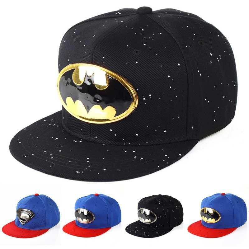 923149a086f Kids Cartoon Baseball Cap Batman Superman Flat Snapback Hat Children  Baseball Caps For Boys Girls Adjustable Hip Hop Hats Casual-in Baseball Caps  from ...