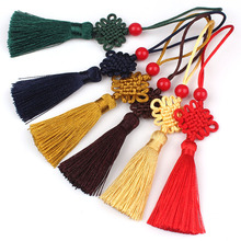 Small Chinese Knot Tassel 100 pcs National Wind Hanging Drop Pendant DIY Fabric Fringe New Year Present Gift