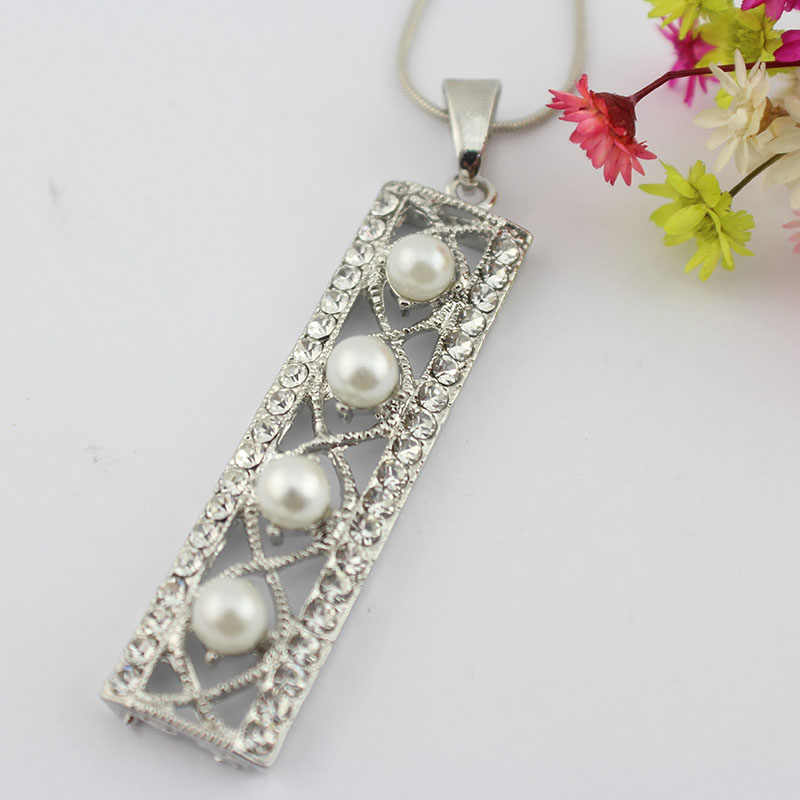 jiayijiaduo African women of Wedding silver-color Jewelry Set imitation pearl necklace earrings wedding dress party  wholesale