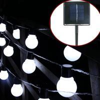 Solar LED String Light Bulb Family Party White Warm White LED Lamp Beads Auto Sensing Night