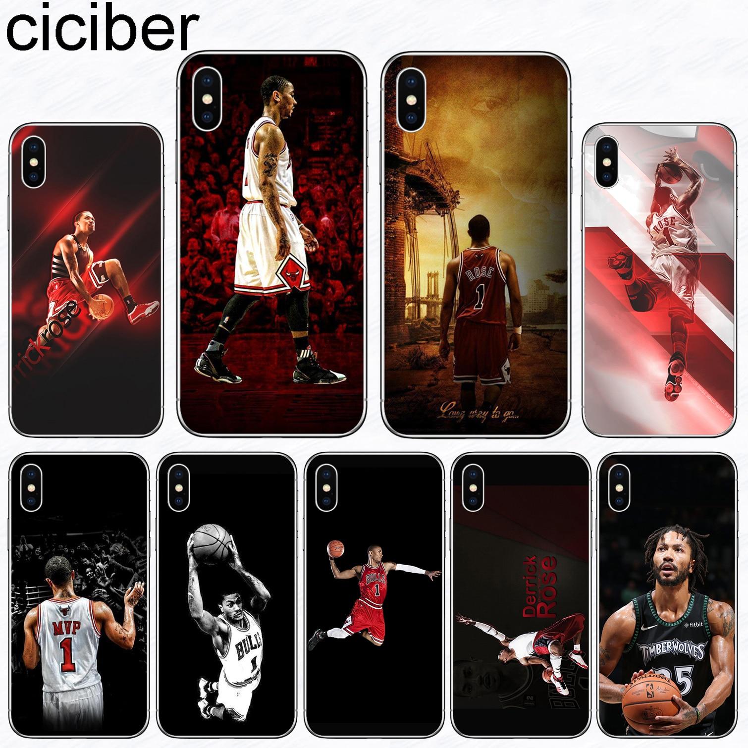 Ciciber Phone Case Sports Basketball Derrick Rose Soft Silicone Tpu