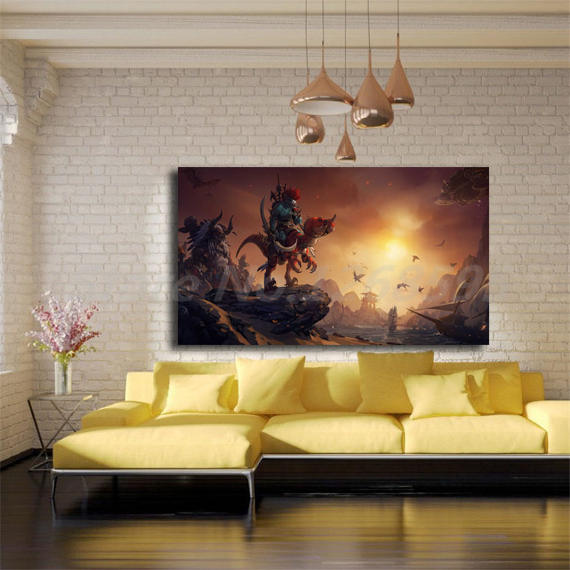 Troll Race World Of Warcrafts Hunter HD Wallpaper Canvas Posters Prints Wall Art Painting Decorative Picture For Home Decoration