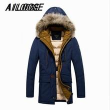 Brand Clothing Mens Winter Coat 70% Duck Down Jacket Men Thick Hooded Jackets Men Parkas De Pluma Para Hombres