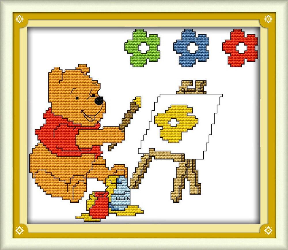 вышивка схема медведей