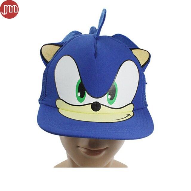 Novo Sonic The Hedgehog Chapéu Boné de Beisebol Ajustável Adulto Dos  Desenhos Animados Cosplay Azul Código 7622936fe91