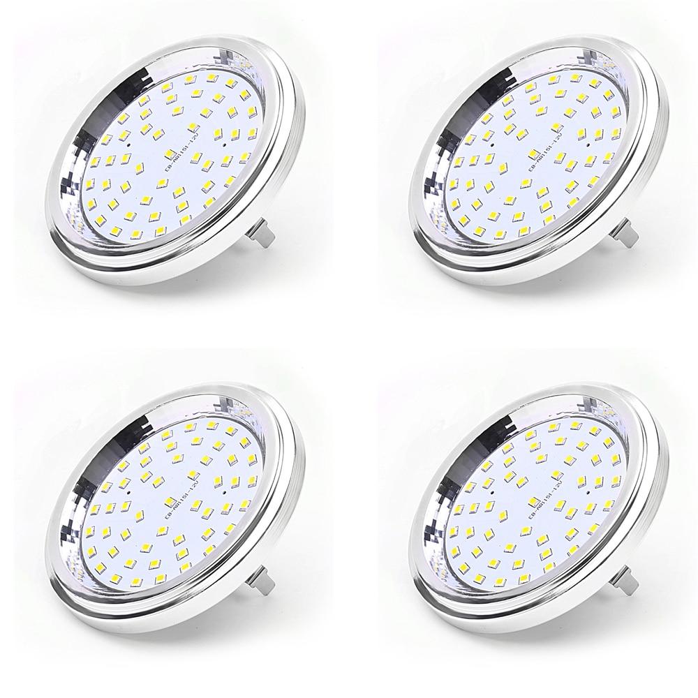 AR111 LED 12 V 7 W G53 bombilla de luz SMD2835 equivalente a 60 W halógena AR111 lámpara de 120 grados para la iluminación del hogar 4 unids/lote