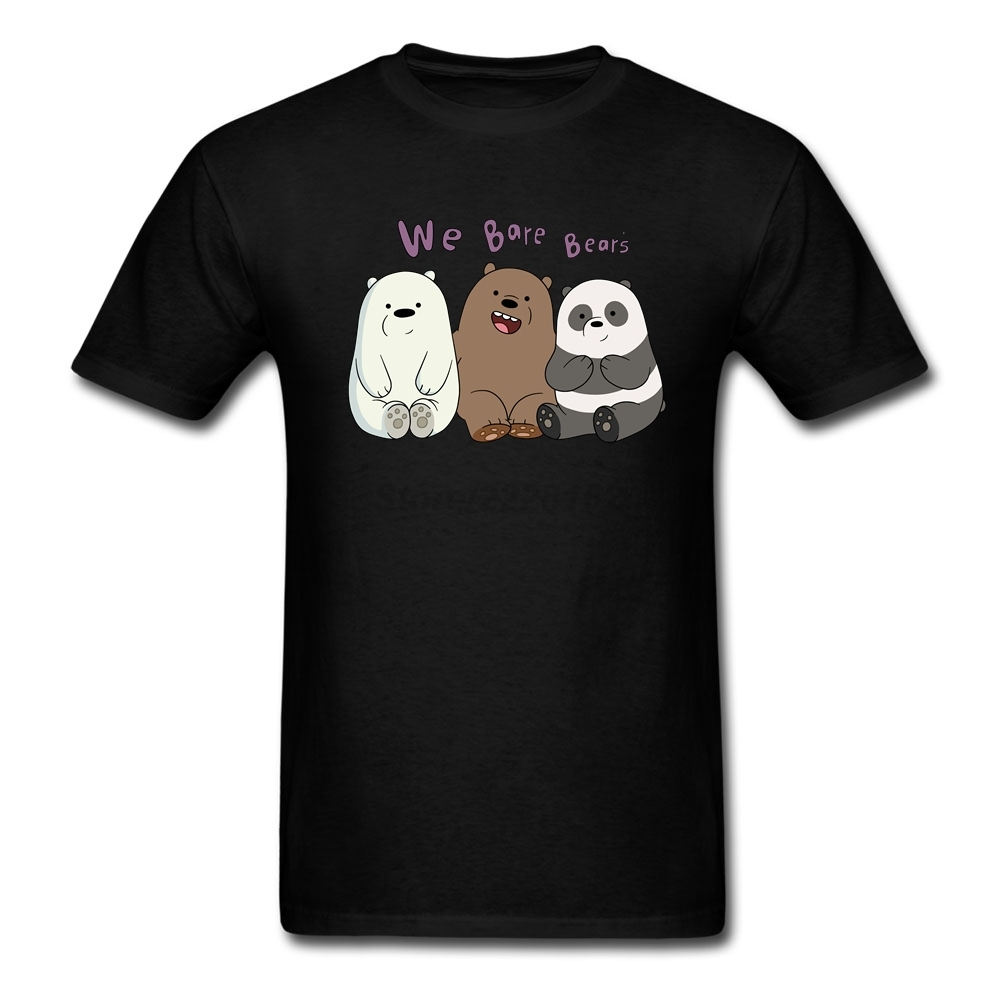 Design your own t shirt american apparel - Men S We Bare Bears T Shirts Cartoon Personalized Big Size Costumes With 3 Lovely Bears American Apparel T Shirt For Man Cheap