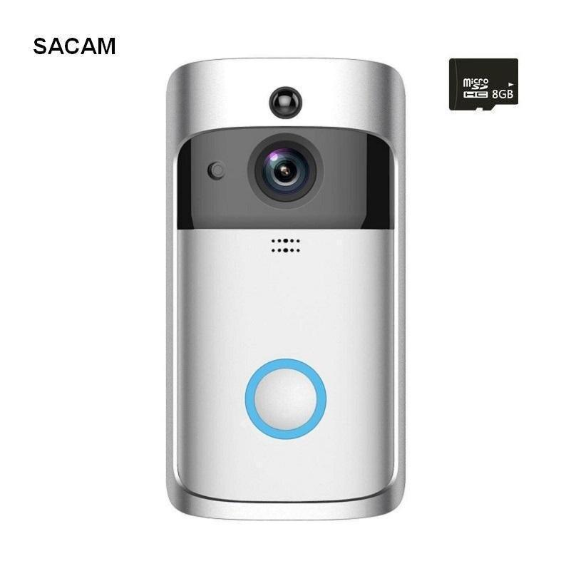 Aufstrebend Sacam Intelligente Video Türklingel Wireless Home Wifi Sicherheit Kamera Kostenloser Cloud Service 8g Sd Karte Zwei-weg Gespräch Nacht Vis