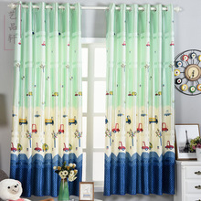 Free Shipping New Daylight Window Curtains 2.1 M Cartoon Car Half Shade Short Curtain ChildrenS Room Available