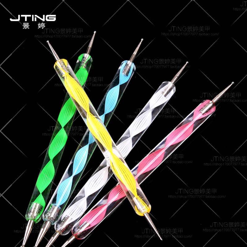 1Pcs 2 Way Nail Art Dotting จิตรกรรมปากกาเล็บเล็บเครื่องมือ Nail Art Dotting ปากกาชุดเครื่องมือ m2bb1 ตกแต่งเล็บ