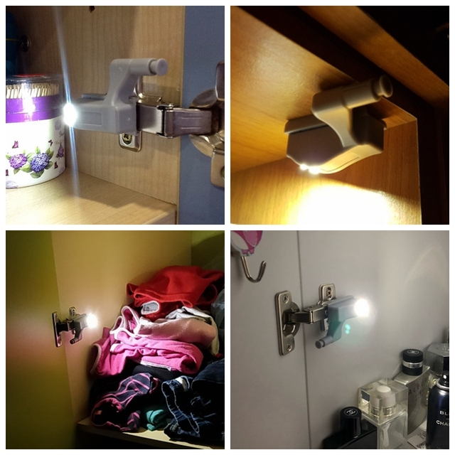 16 PCS Intelligent LED Induction Cabinet Light Internal Hinge Light Wardrobe Cupboard Lamp Home Kitchen Bedroom Night Light