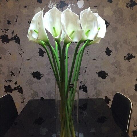 Acheter XXXG/10 PCS/[PU] grande main Calla Calla fleur simulation silicone fleur simulation paquet De Mariage fleuristerie ménage de calla flowers fiable fournisseurs