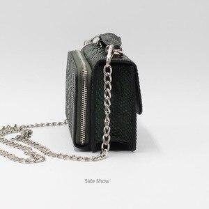 Image 4 - XMESSUN 2020 hakiki Python cilt bayan zincir çapraz vücut çanta yılan deri çanta kadın el çantası