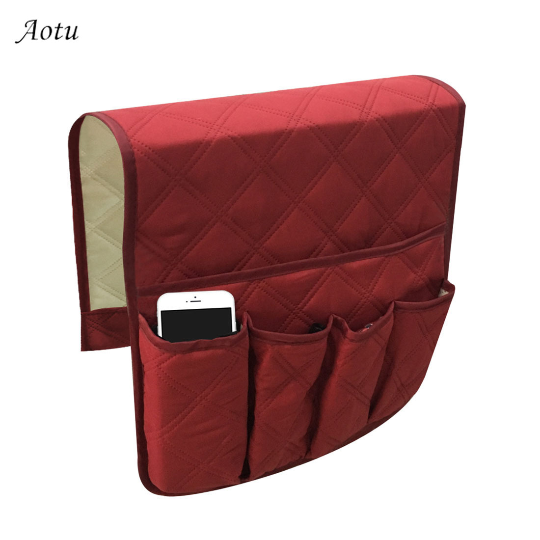 Sofa Storage Bag Use for Game Controller Pens ipad 5 Pocket Sofa Couch Arm Rest Organizer TV Remote Control Organizer Holder