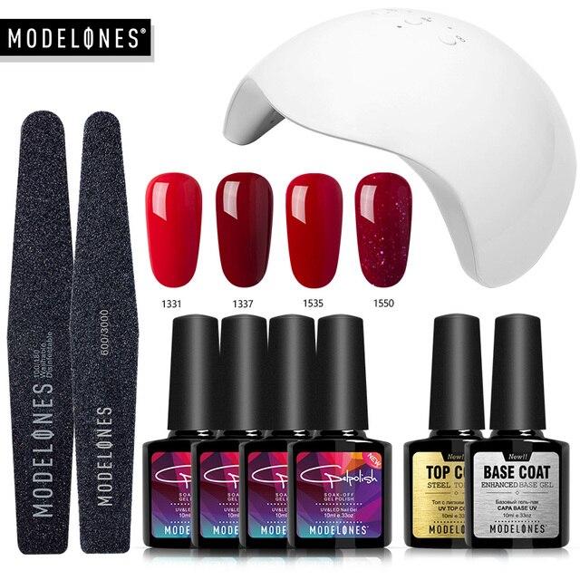 Modelones Nail Gel Soak off Gel polish Top & Base Coat gel nails ...