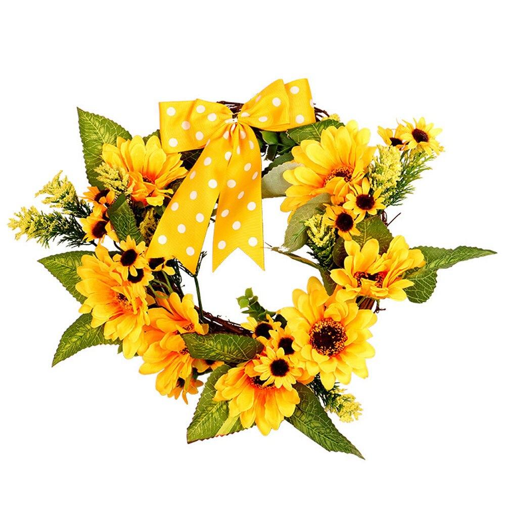 Weddings & Events 1 Pcs Handgemachte Sonnenblumen Kranz Für Feier Front Tür/geschenk/hochzeit Decor Home Decor Thanksgiving Decor Bunte