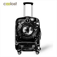 Cool Trolley Suitcase Protective Covers Elastic Baggage Case Cover Camera Pattern Luggage Cover Valise 70cm Travel