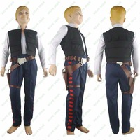 Star Wars Han Solo ANH A New Hope Jacket Vest Pants Belt Holster Halloween comic con Cosplay Costume Boys Kids