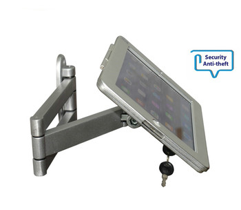 Fit for iPad 2/3/4/air/pro wall mount metal case for ipad stand display bracket tablet pc lock holder support full motion angle