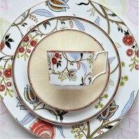 European Bone China Western Dish Steak Plate Afternoon Tea Dessert Coffee Cup Dishware