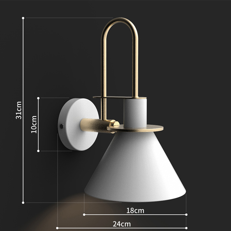 Post Modern Wall Lights Sconce Creative Iron Horn LED Nordic Simple Modern Wall Light For Bedside Wall Lamp Home Indoor Lighting Fixture E27 E26 (18)