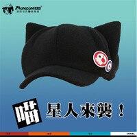 כובעי קוספליי אנימה Neon Genesis Evangelion EVA צמר קוטב חמוד כובע אוזני חתול וכותנה עם תג אסוקה לנגלי סוריא כובע קש